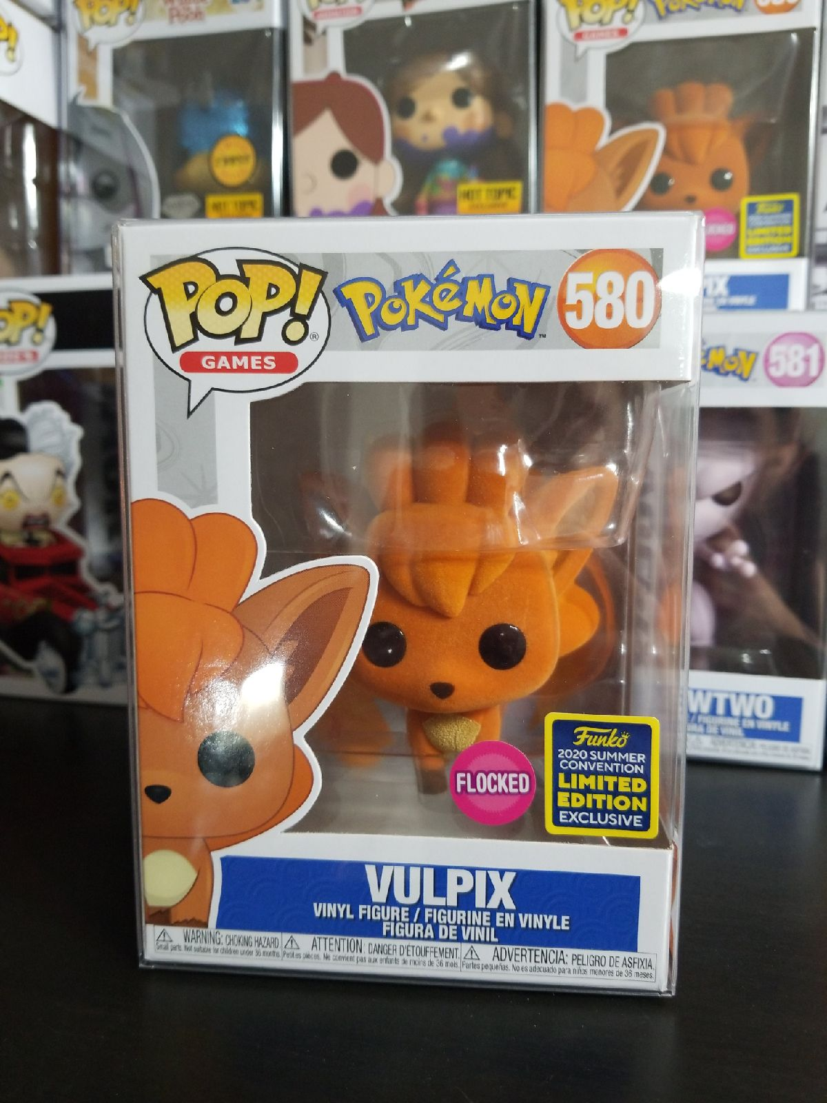 vulpix flocked funko pop