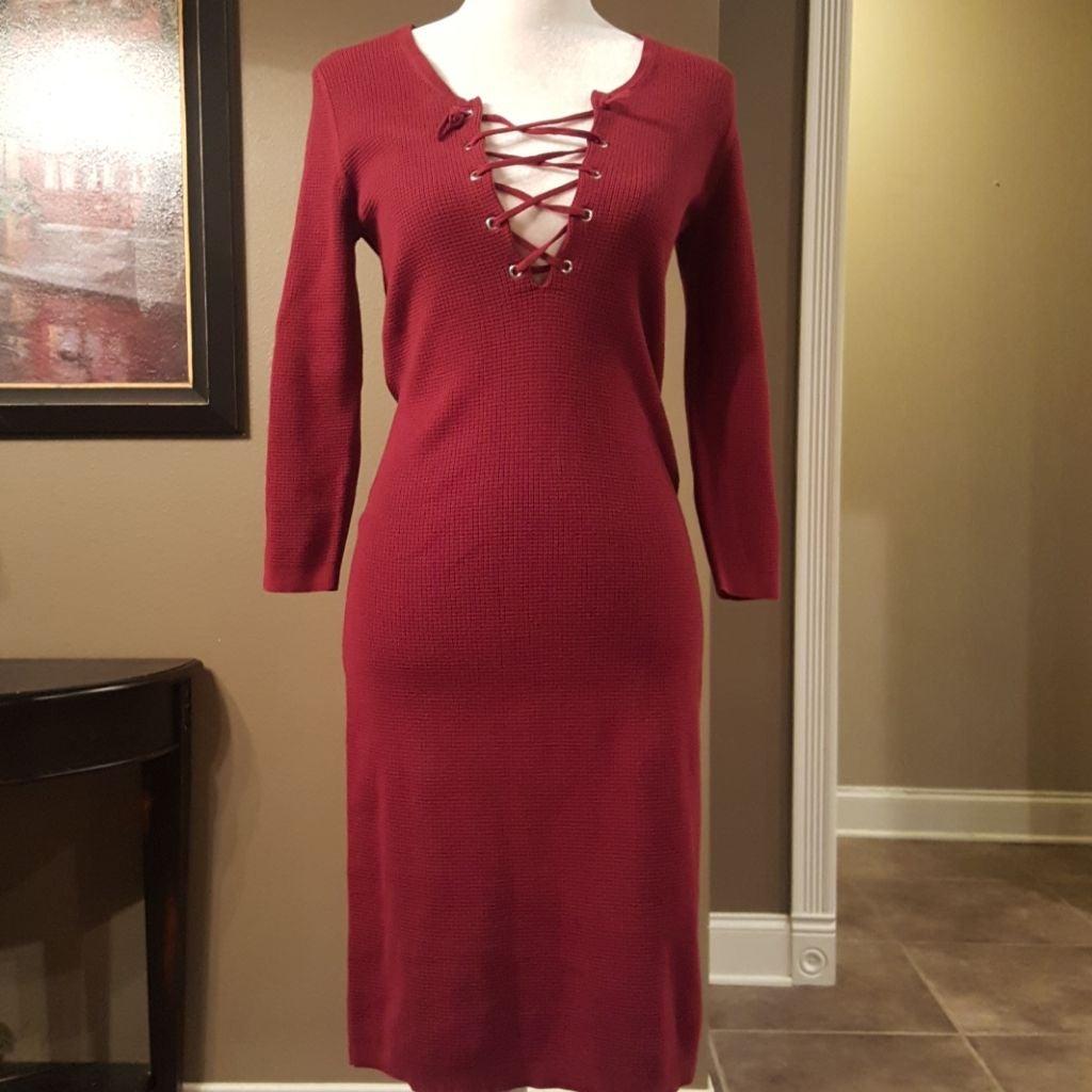 Moda International Red Midi Dress
