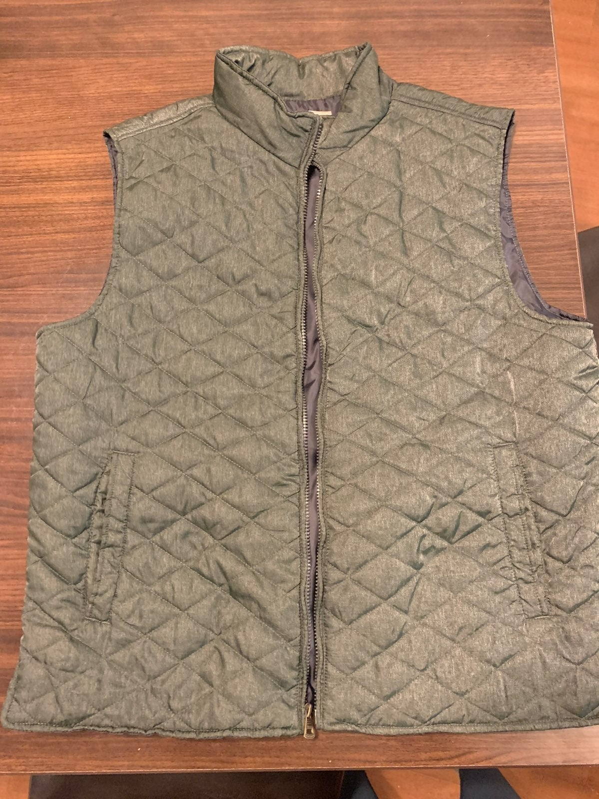 Weatherproof Diamond Quilted Green Vest
