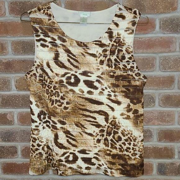 Laura Ashley Animal Print Blouse