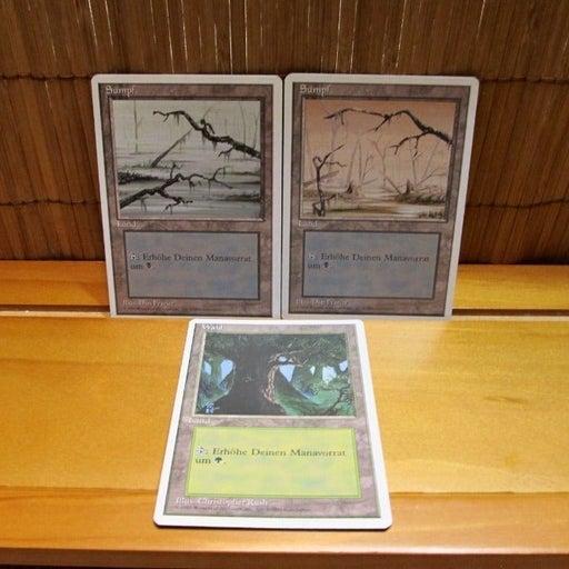 1995 Magic The Gathering 4th Edition German Basic Lands Sumpf & Wald