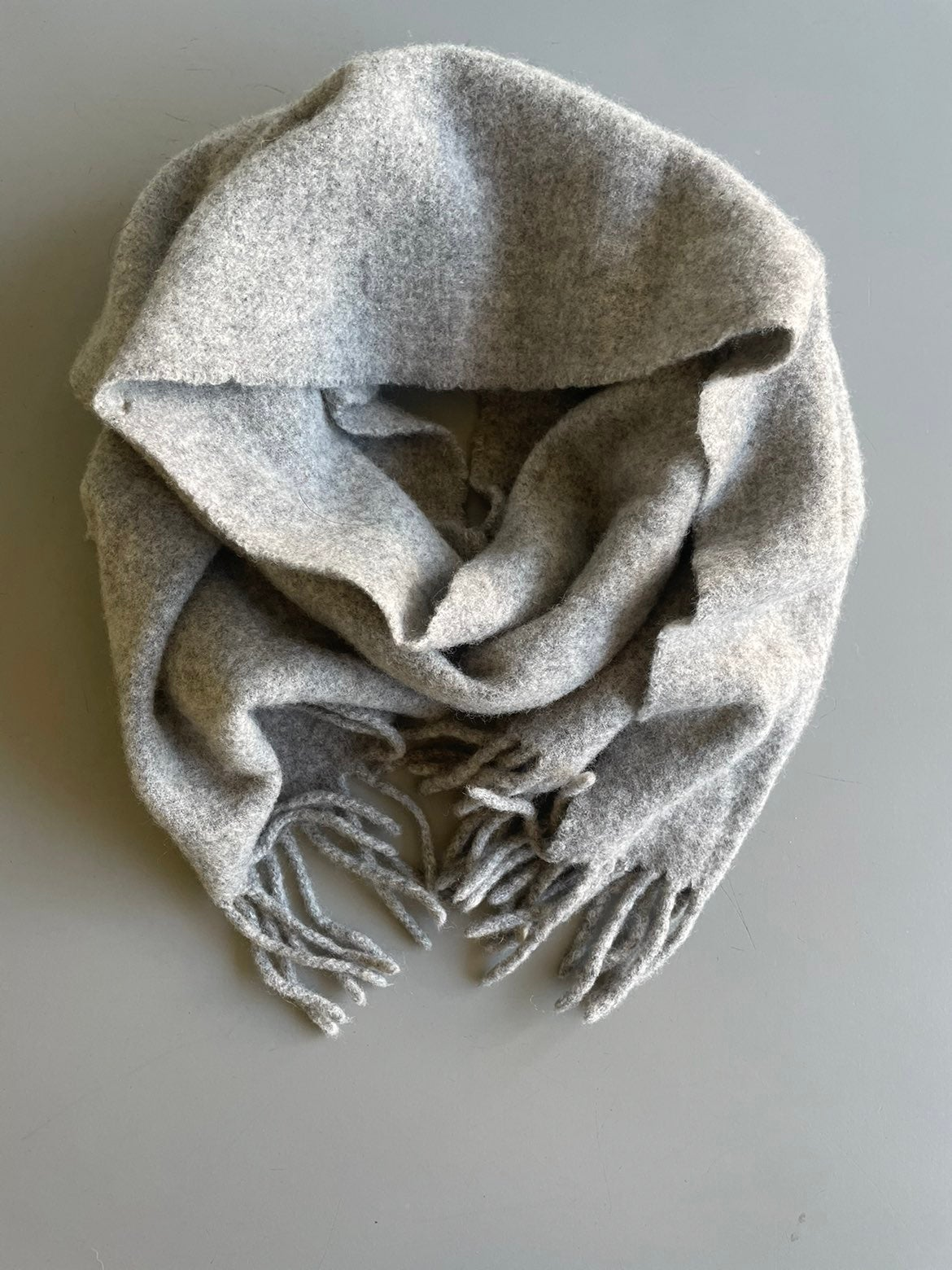 Vintage Jenners Grey Lambswool Scarf