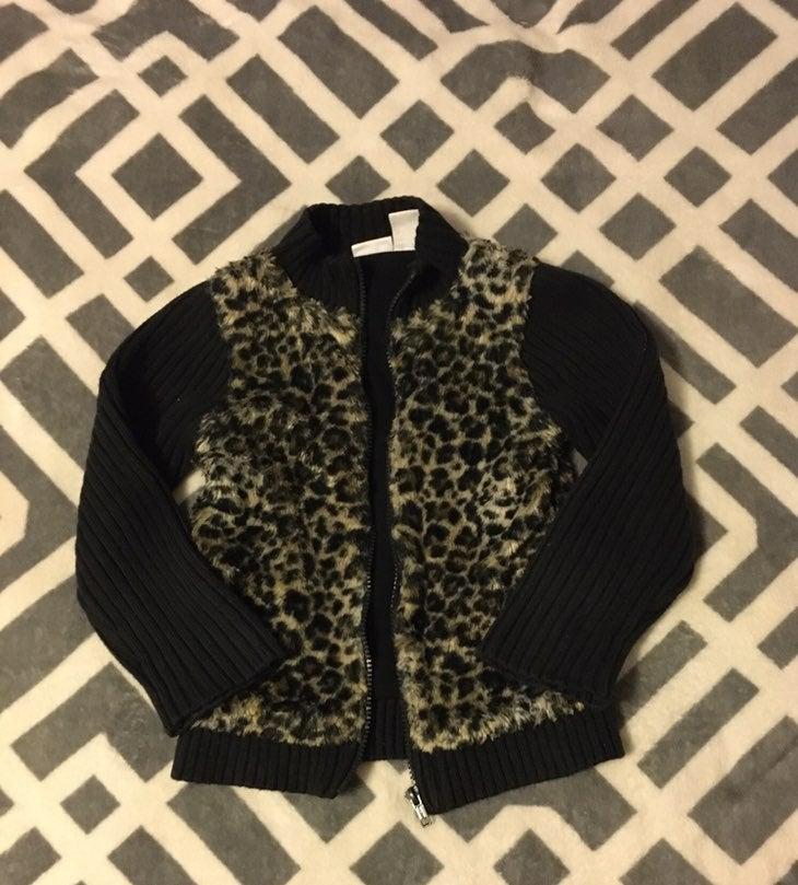 Kid R Us Girls Cheetah Print Jacket