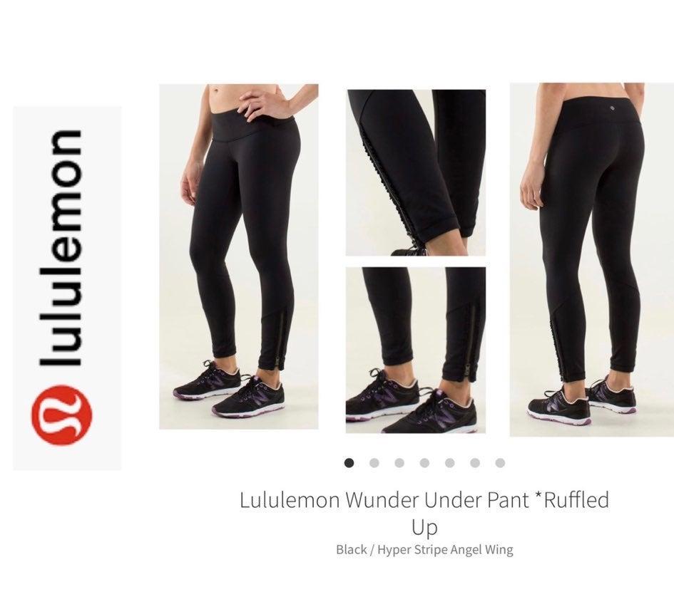 Lululemon Wunder Under Black Ruffle 4