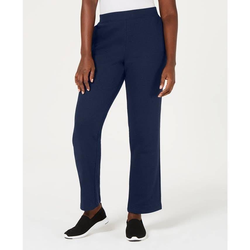 Karen Scott Sport Navy Blue Fleece Pants