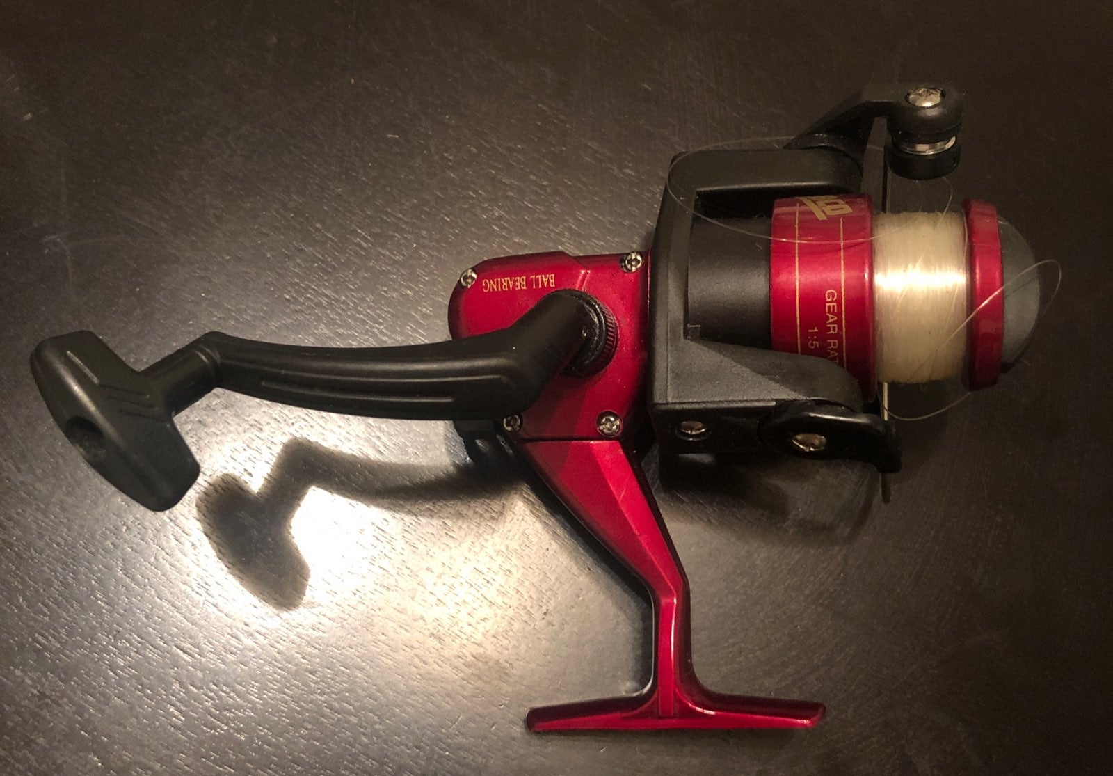 Fishing reel zebco red gear ratio 1:5