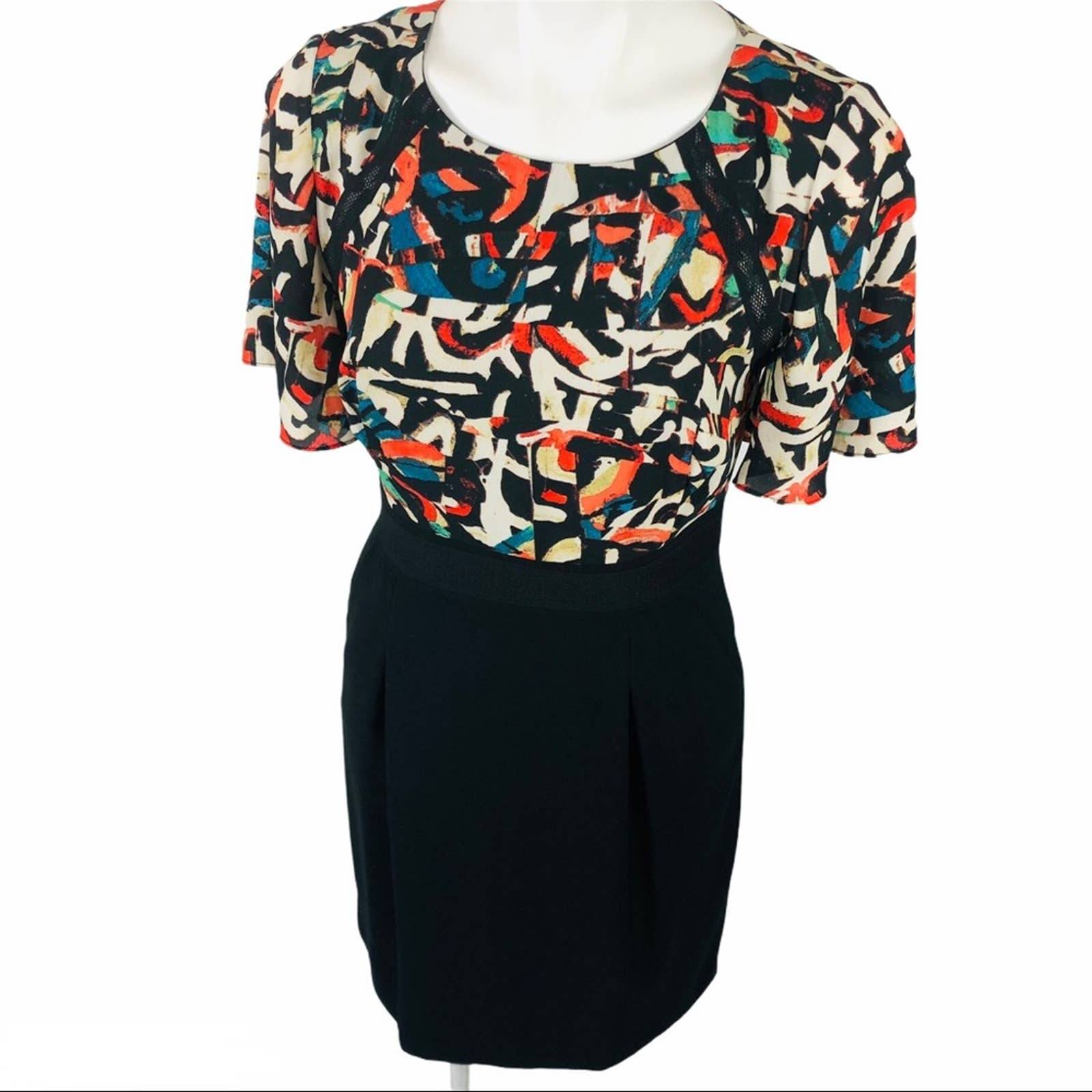Tahari A-Line Dress Size 6P Black
