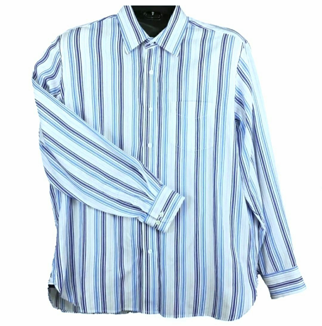 Gap Blue Striped Shirt Men's Sz L
