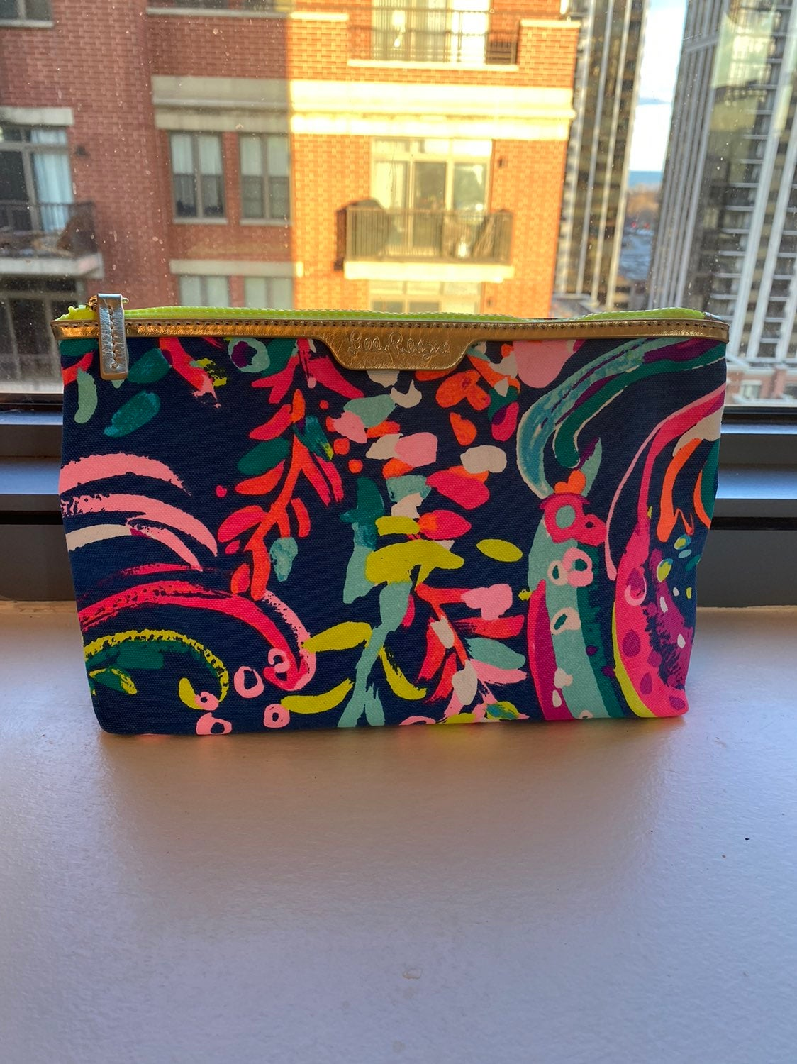 Lilly Pulitzer Canvas pouch