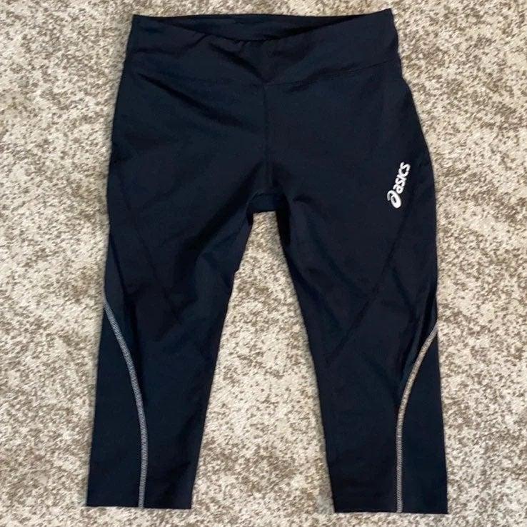 Asics black athletic Leggings S