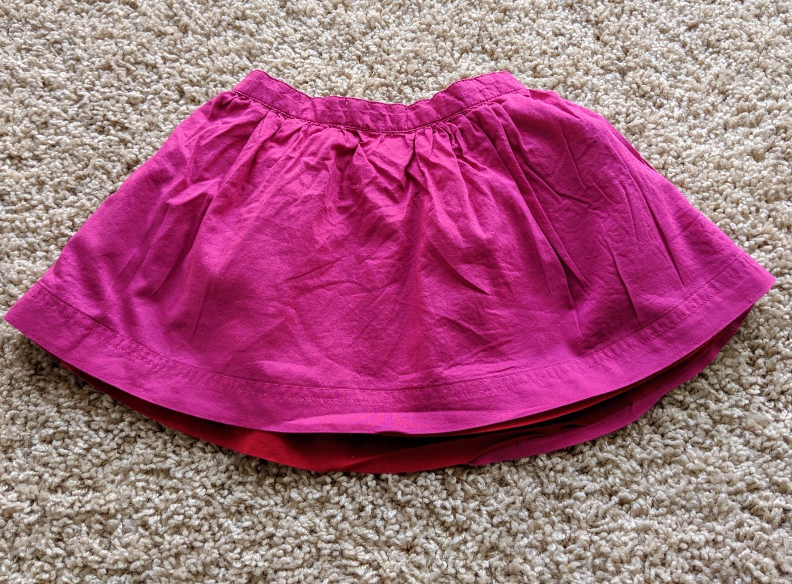 Primary pink and red reversible Skirt