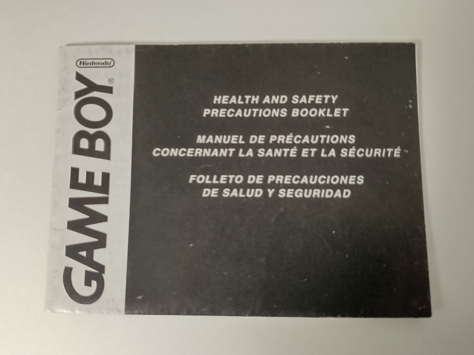 Gameboy Health and Safety Precautions Bo