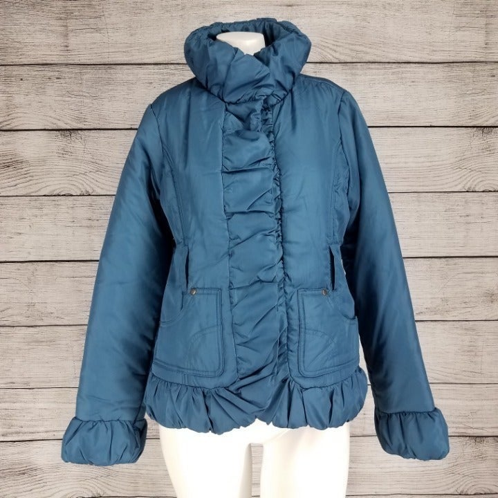 NWT Dollhouse S Ruffled Puffer Jacket