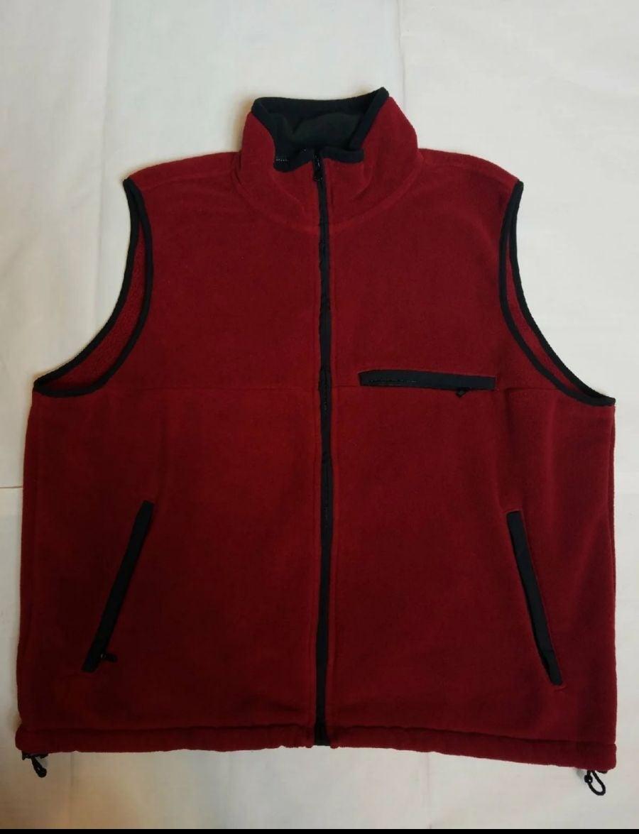Eddie Bauer Men's Red Fleece Vest L