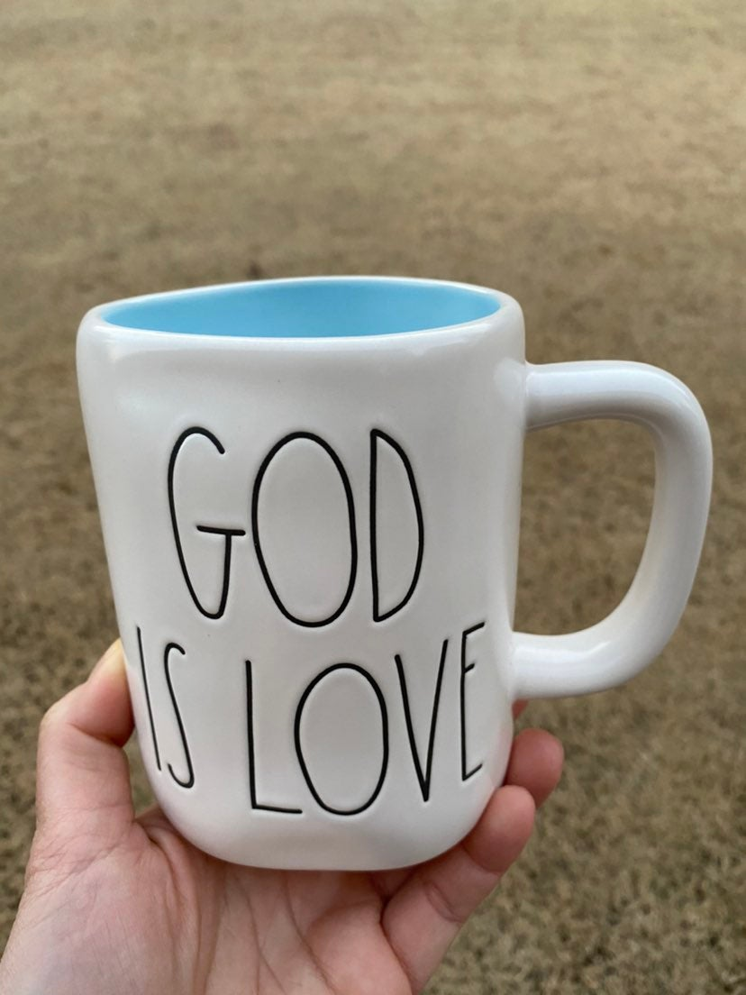 rae dunn god is love mug