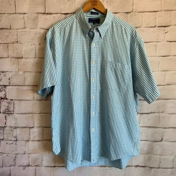 Hathaway Sport Shirt, Short Sleeve, XL