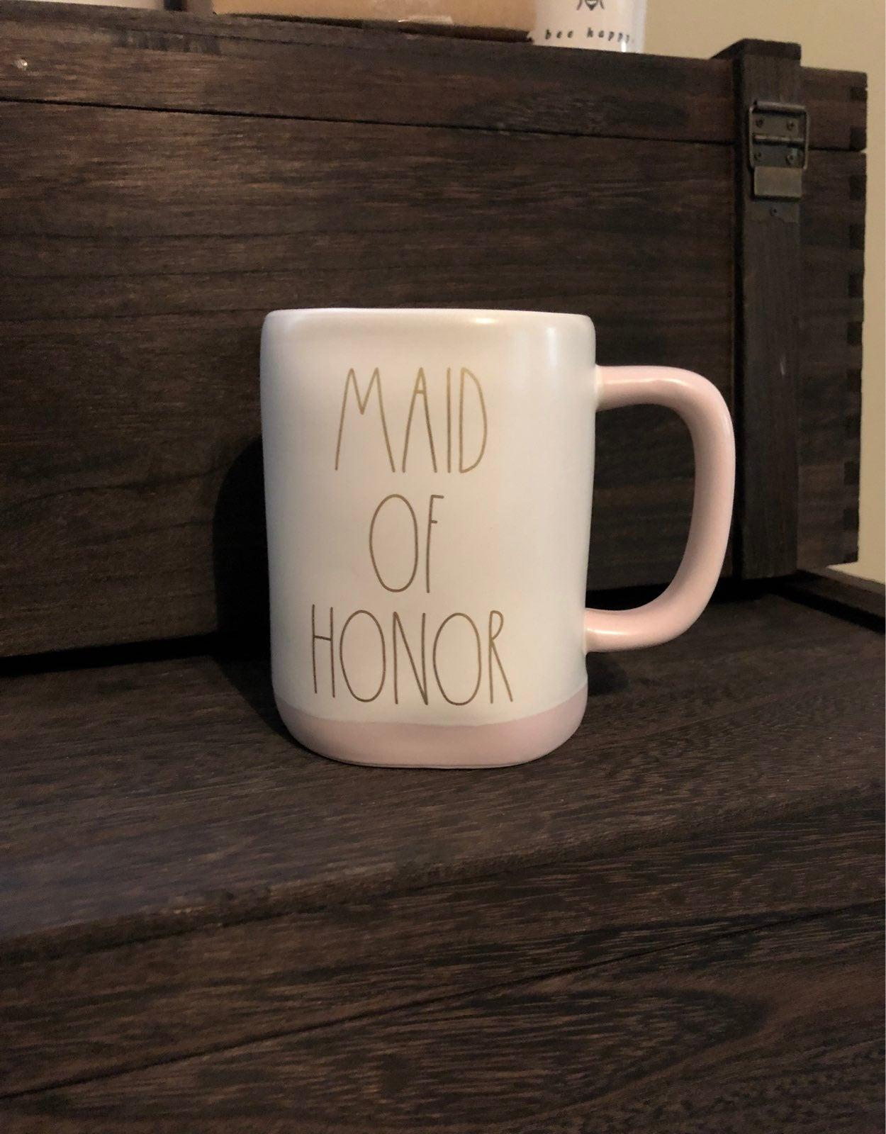 """Rae Dunn """"MAID OF HONOR"""" Mug"""