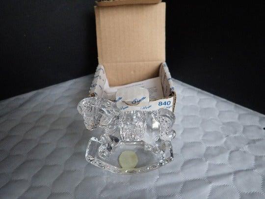 Princess House Crystal Rocking Horse