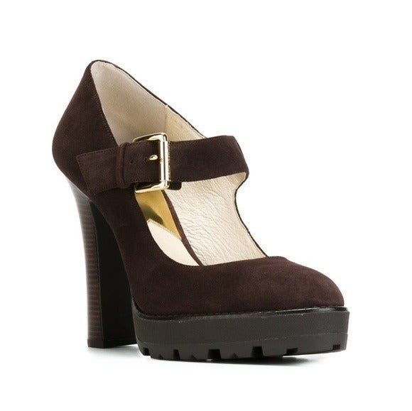 LN Flynn Suede Platform Mary Jane Shoes