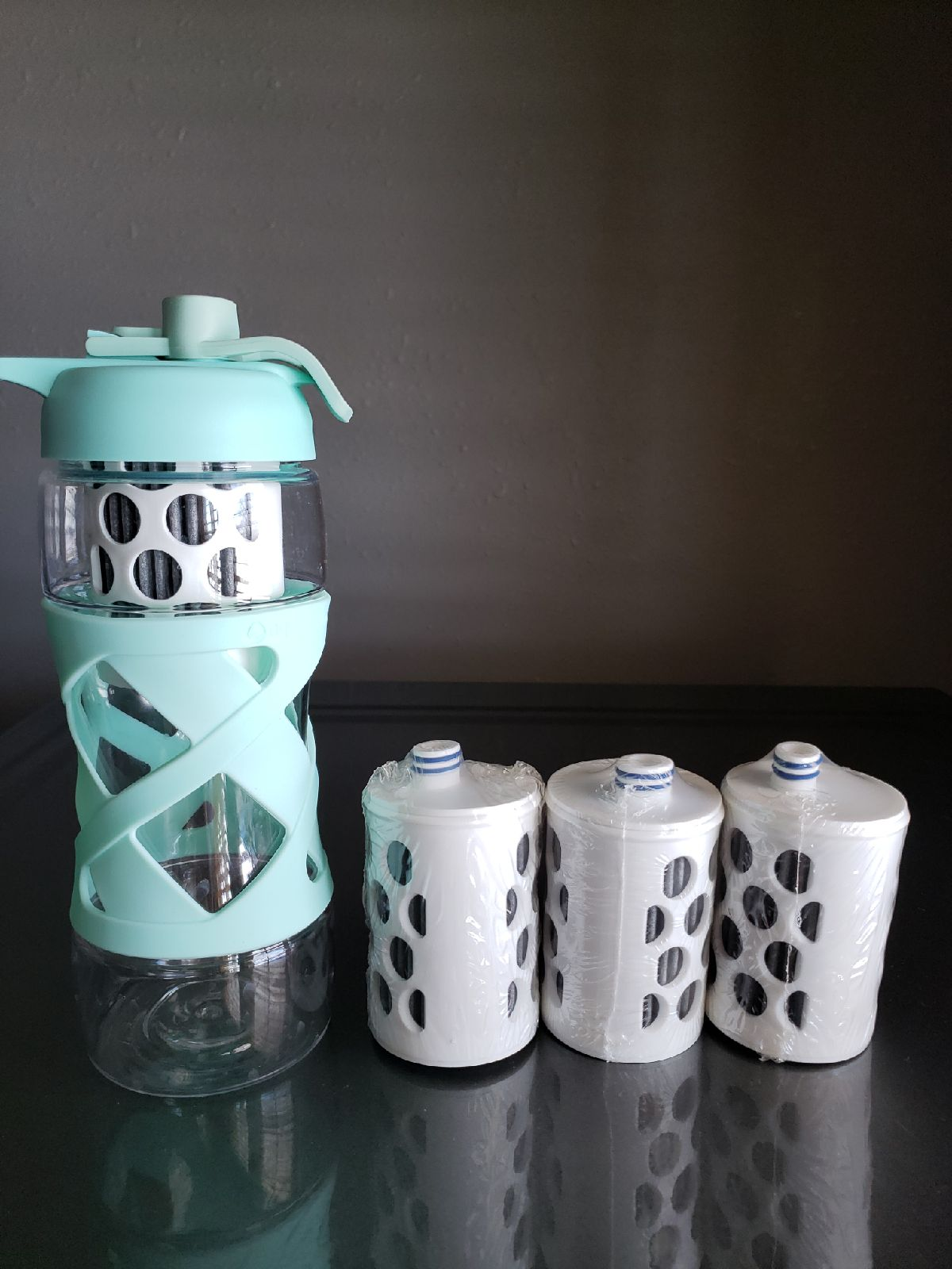 Aquasana water bottle with filters
