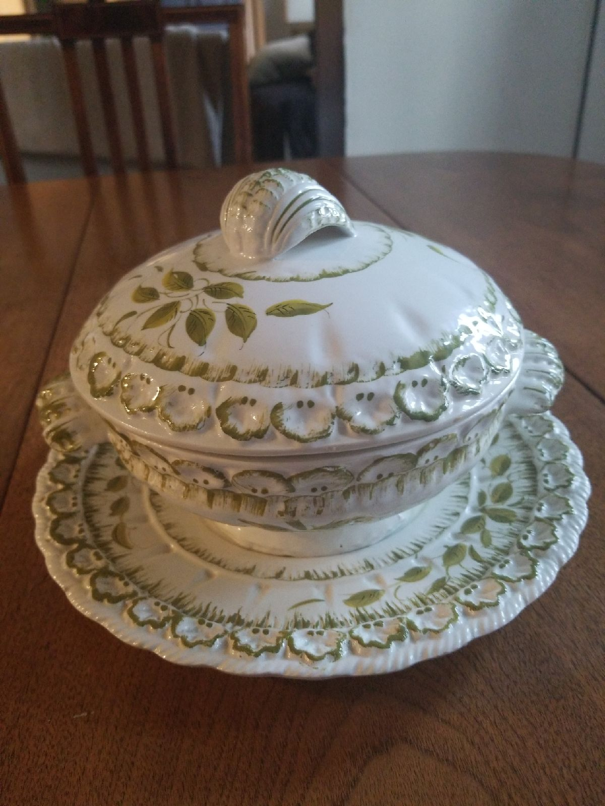 Hand Crafted Porcelian Soup Tureen and P