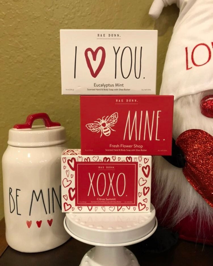 Rae Dunn valentines set of 3 soaps