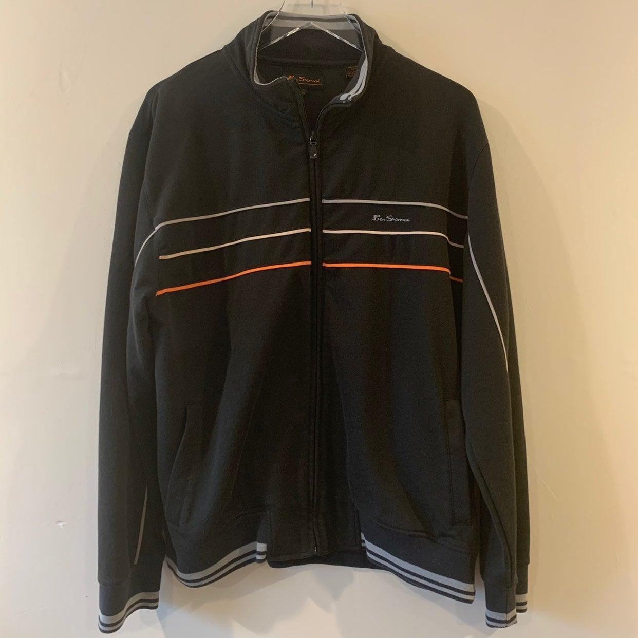 ben sherman mens zip jacket black and or