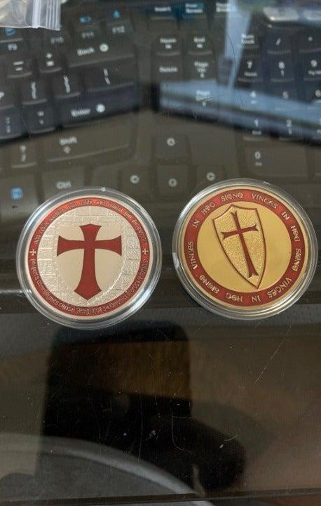 Knights Templar Custom Coin Tokens