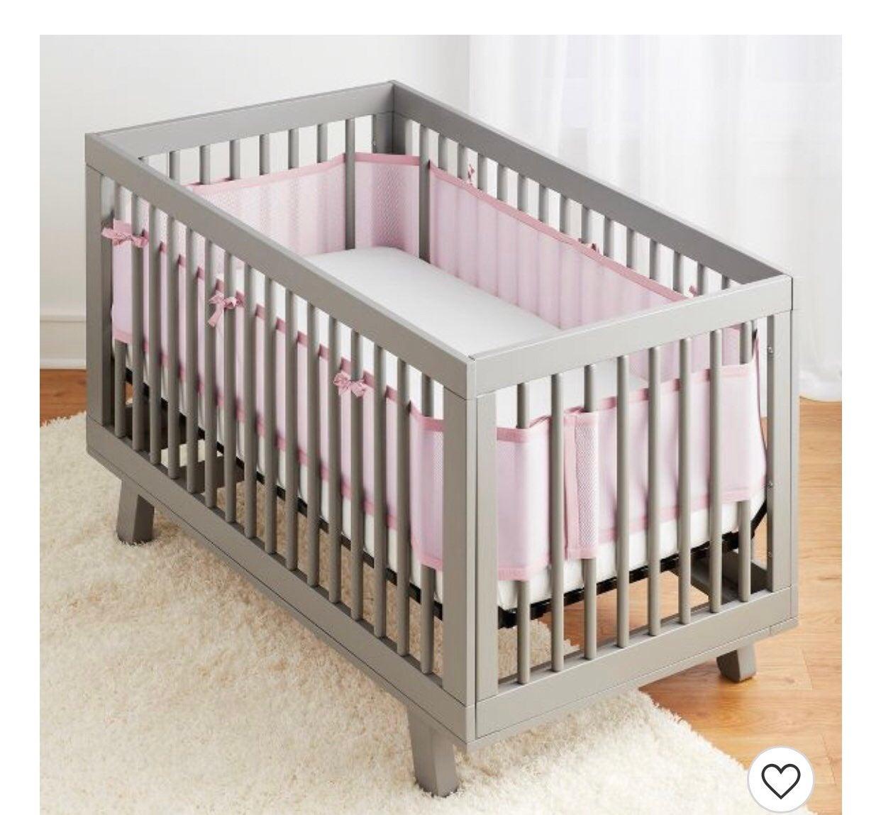 Pink BreathableBaby Mesh Crib Liner
