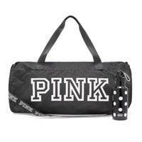 2e6252ea5ca08d PINK VS Pink Duffle Bag & Water Bottle