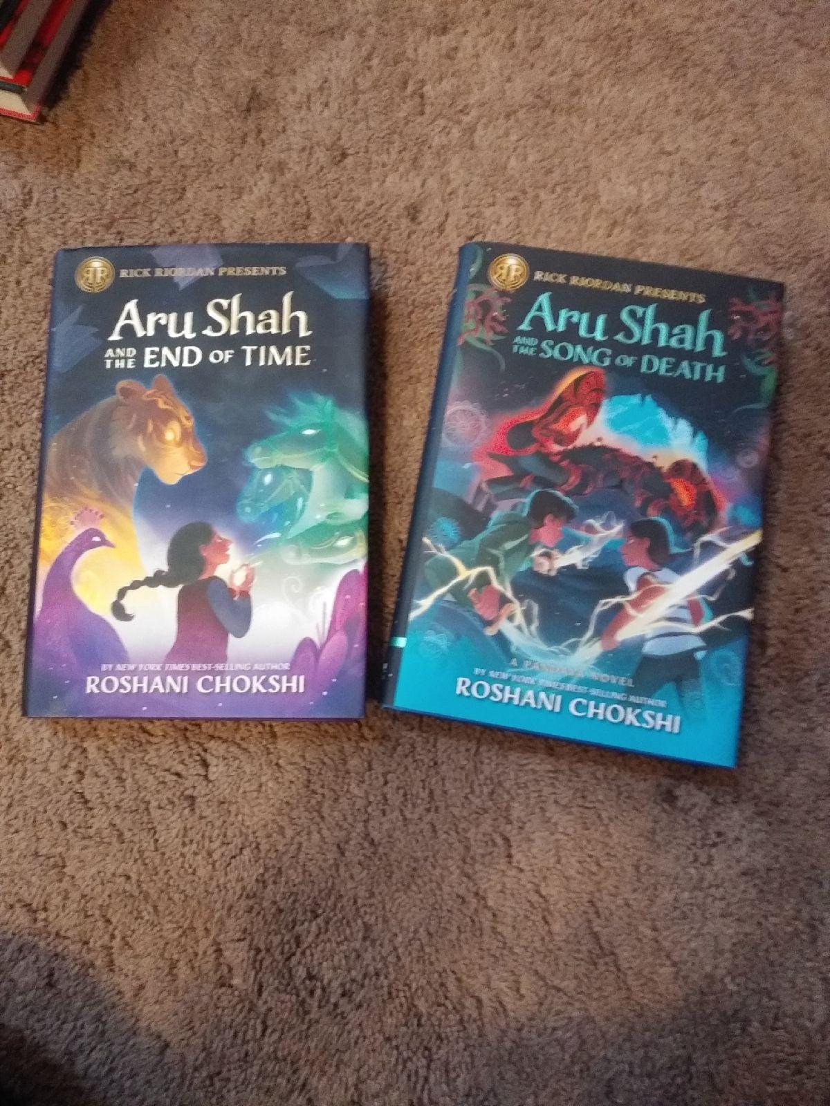 2 Aru Shah books-Roshani Chokshi
