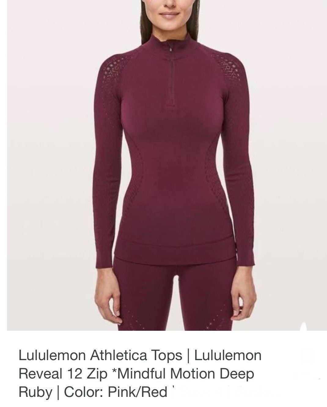 Lululemon 1/2 Zip Reveal Top