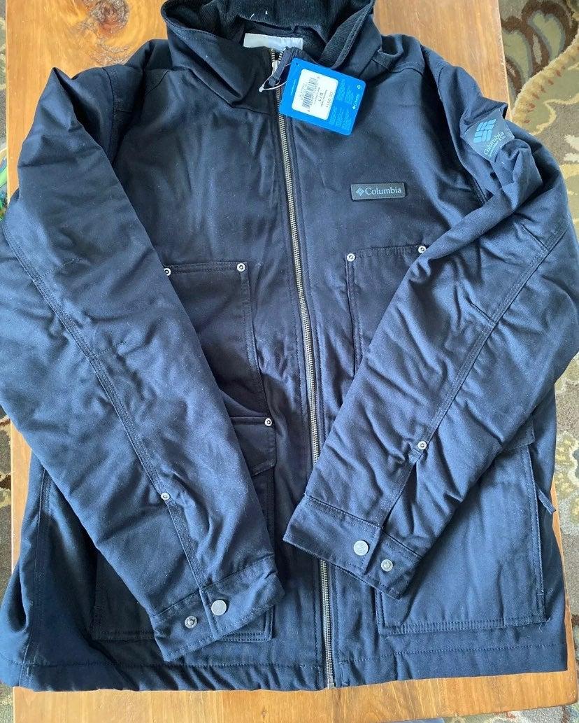 Men's Large Black Columbia Jacket