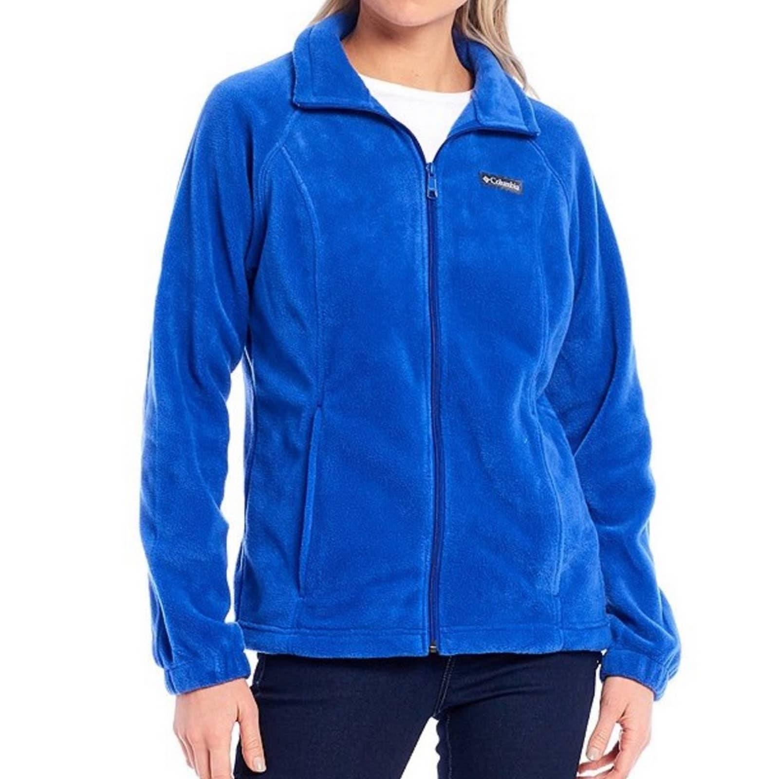Blue Columbia fleece zip jacket
