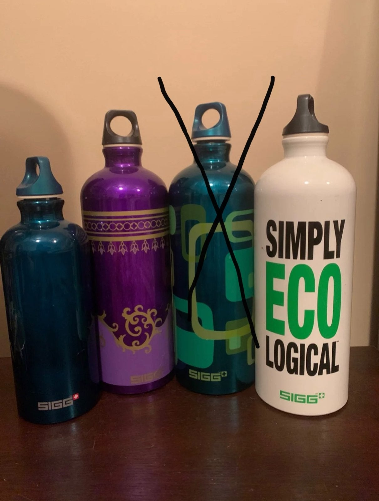 SIG stainless steel water bottles