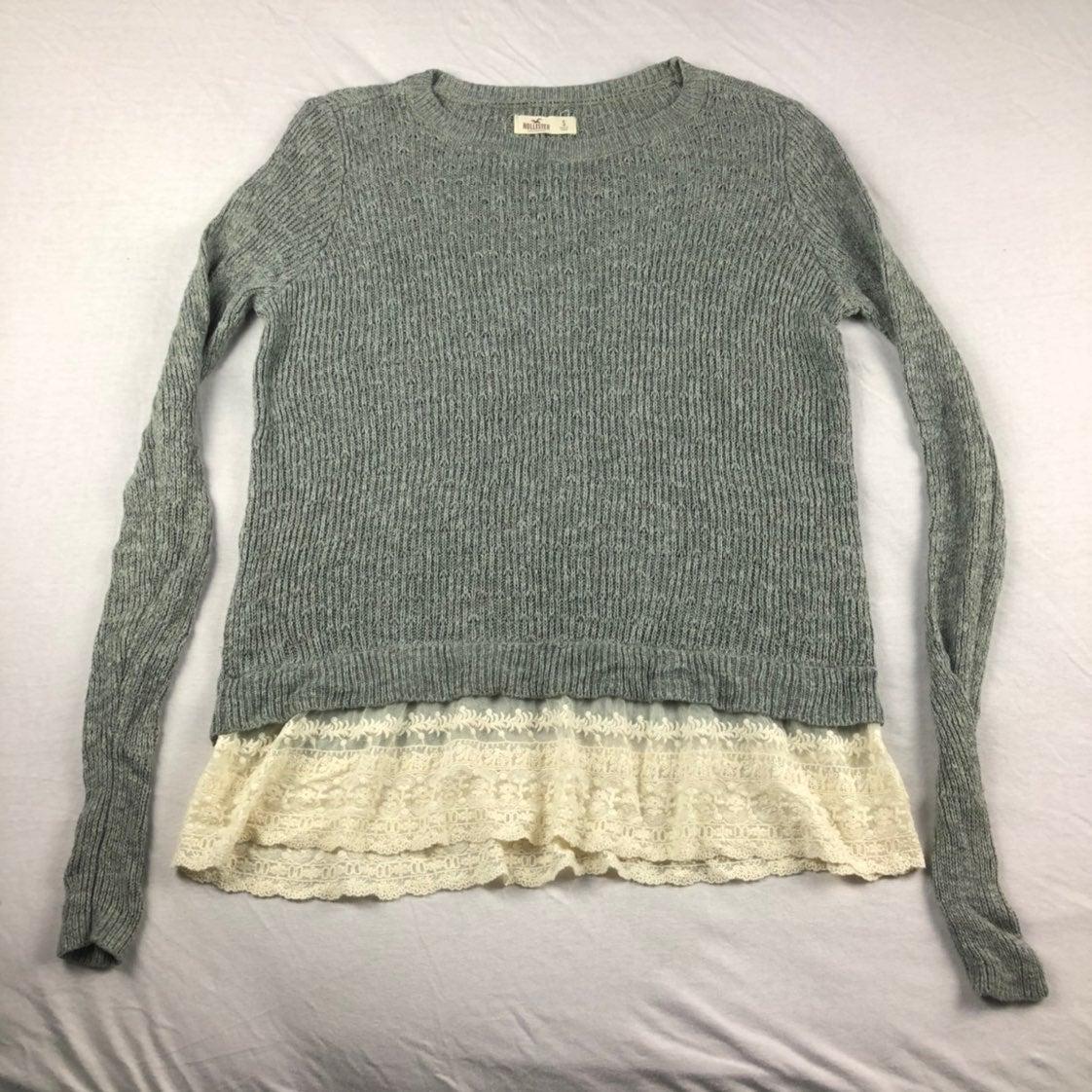 Hollister Lace Underlay Sweater