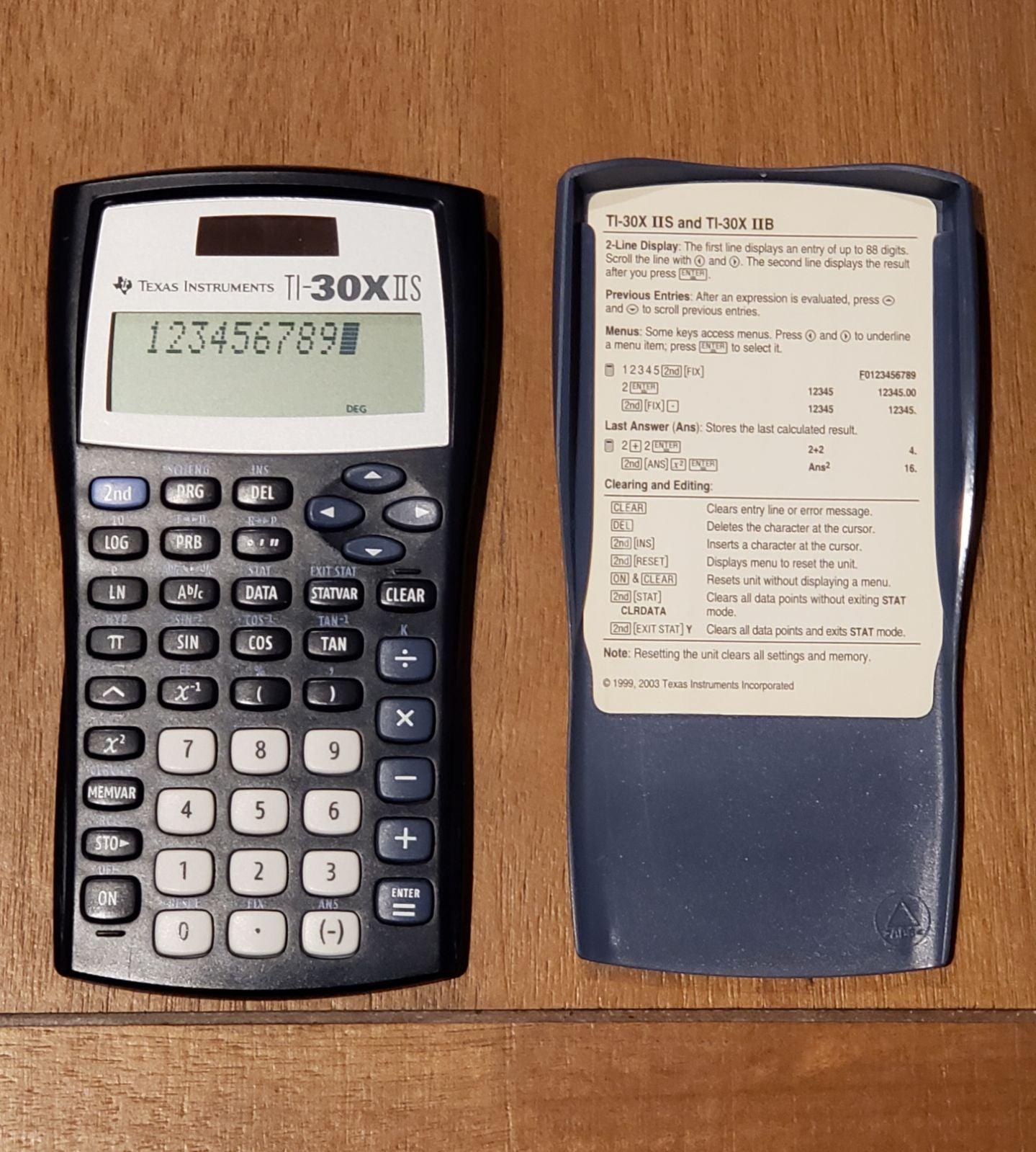 Texas Instruments 30XiiS/TBL/1L1/AX Calc