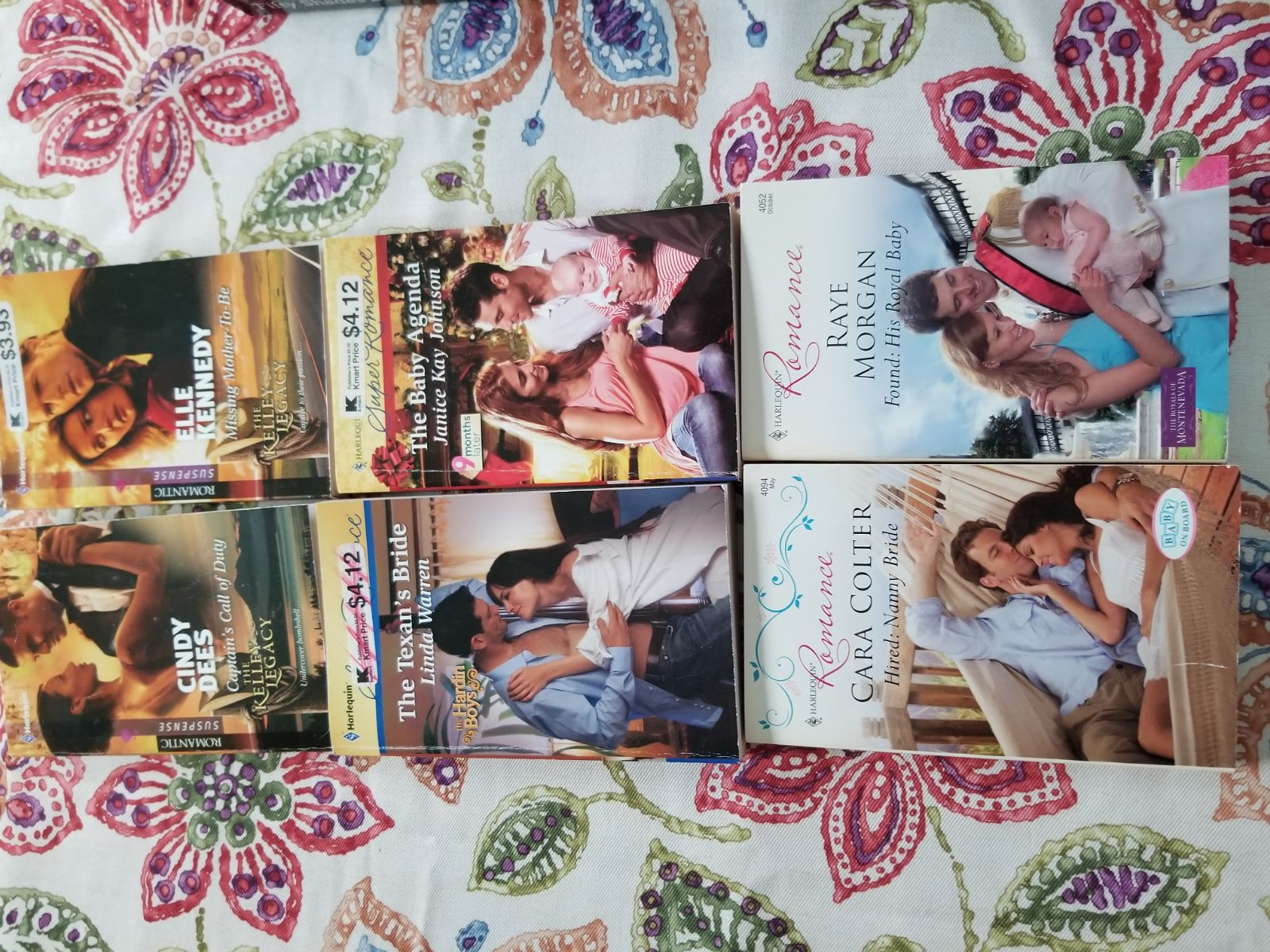 6 romance novels