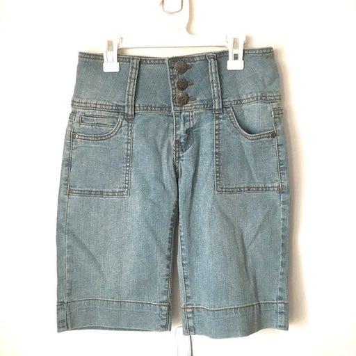 High Waisted  Denim Womens Shorts