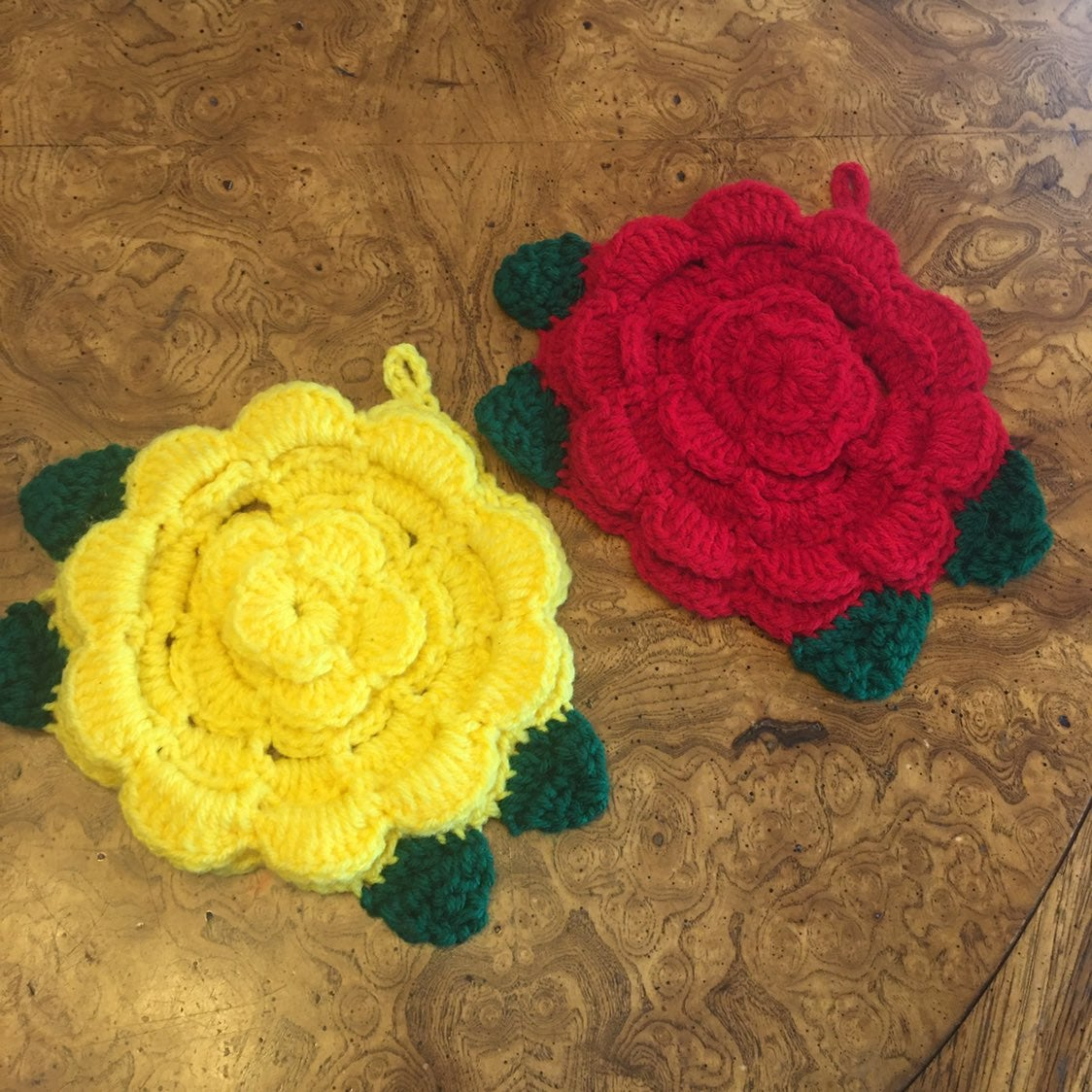 2 Crochet Pot Holders