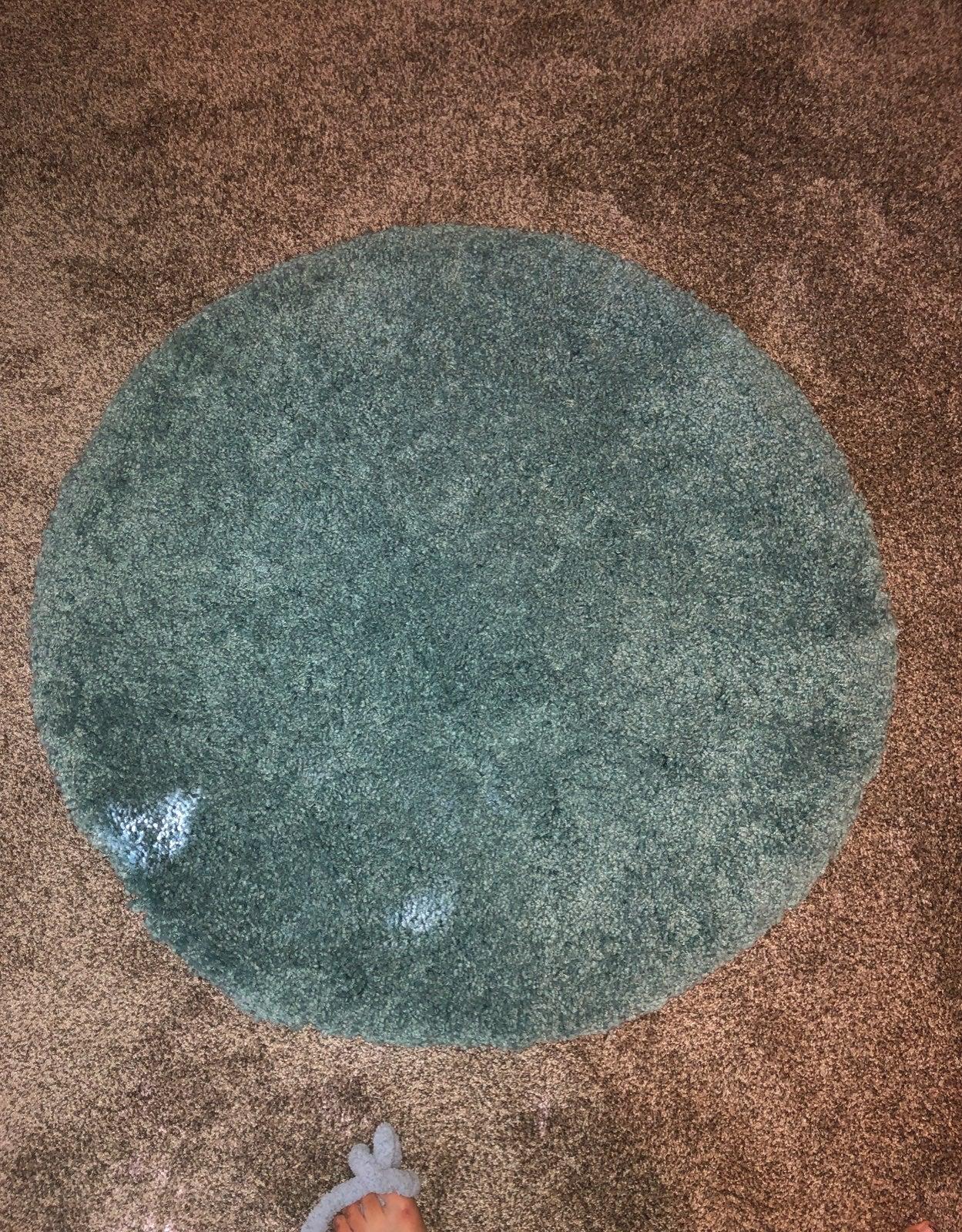 Aqua circle rug 3'