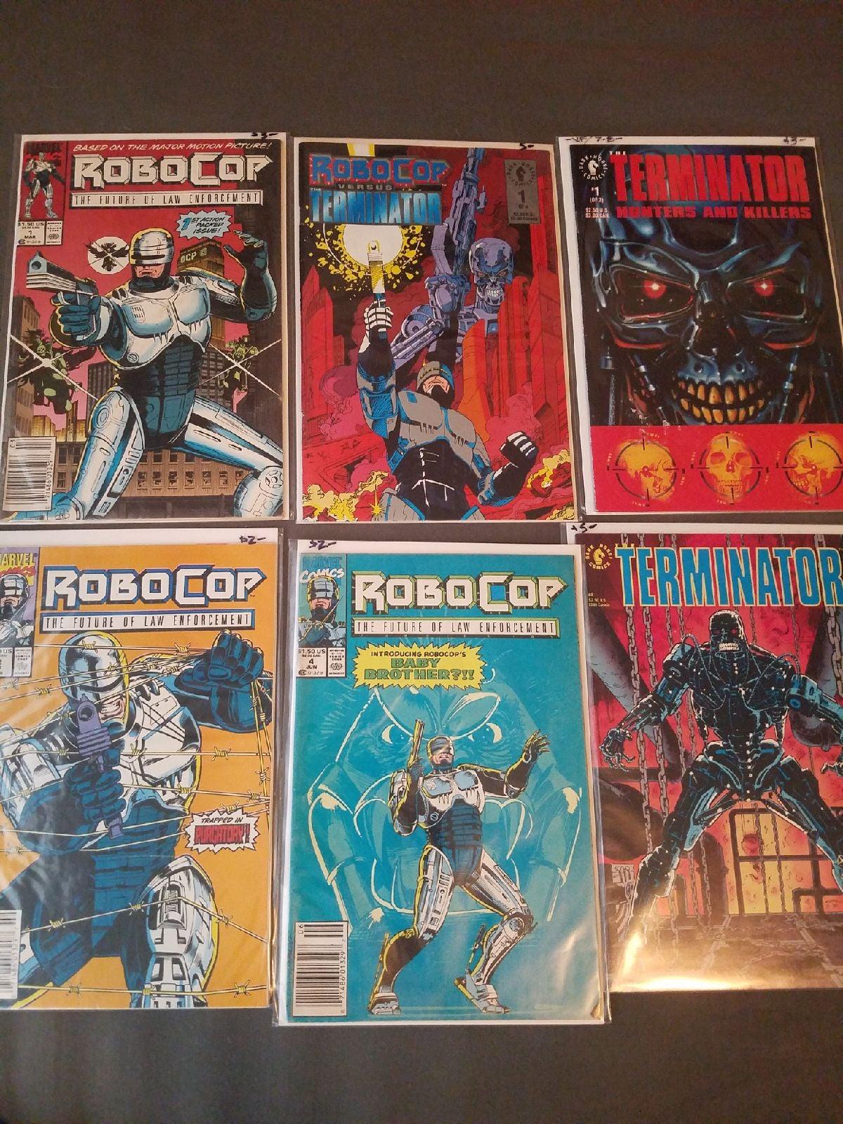 Robocop & Terminator Comic Lot