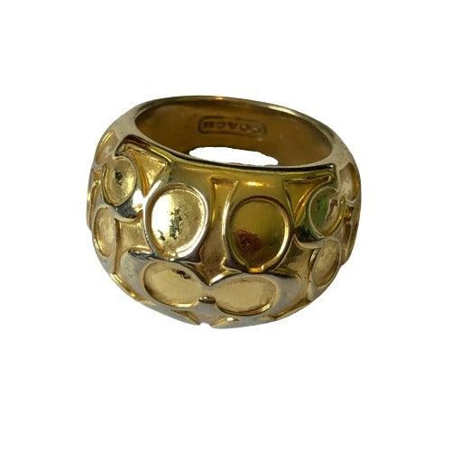COACH C Logo Ring Size 7.5 w/ FLAWS