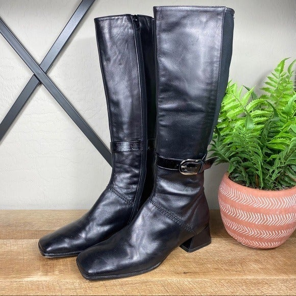 Taryn Rose Tall Leather Riding Boots