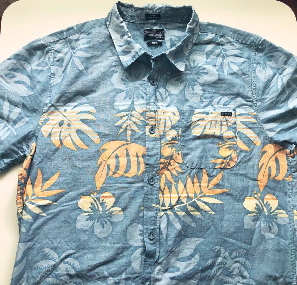 O'neill Men's Hawaiian Shirt L
