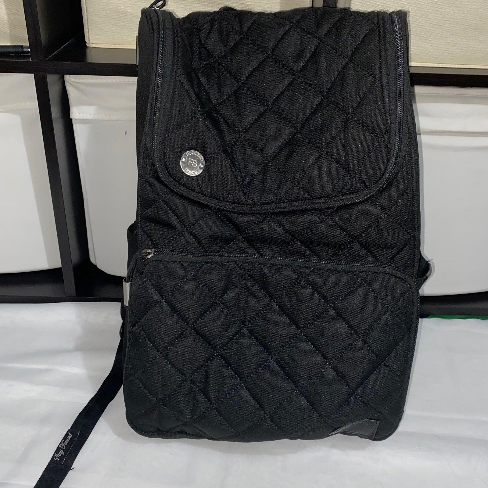 Focused Space Backpack Black Bag