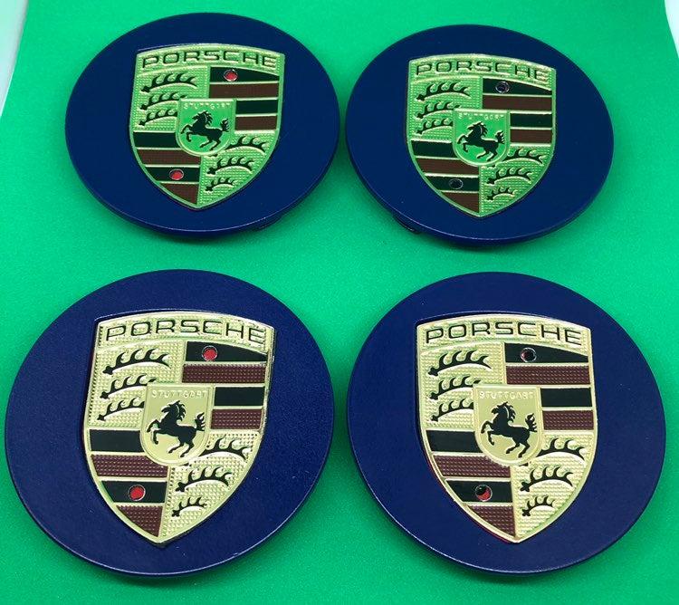 4 center cap blue Porsche 76 mm new cus