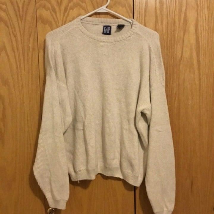 Gap Pullover Sweater Crew neck Cream