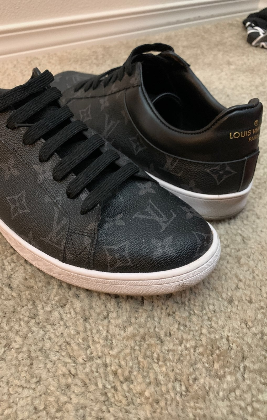 Black lv shoes men