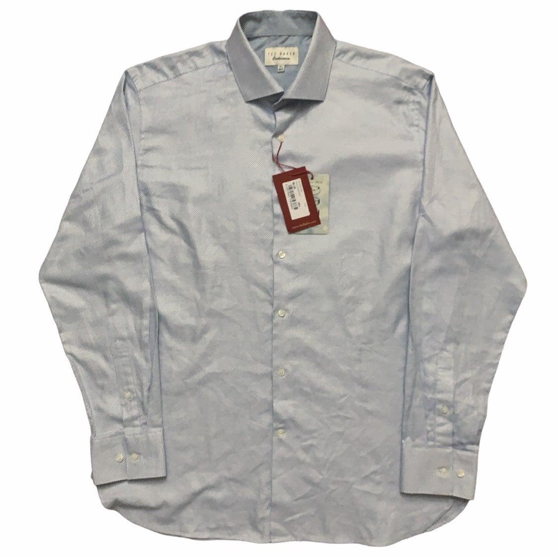 Ted Baker Dress Shirt Blue 16.5-34/35